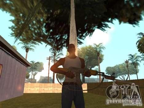 АК 47 со штык-ножом HD для GTA San Andreas четвёртый скриншот
