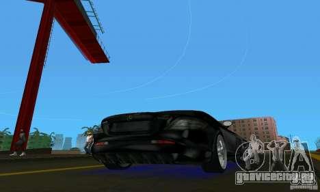 Mercedes-Benz SLR McLaren 722 Black Revel для GTA Vice City вид справа