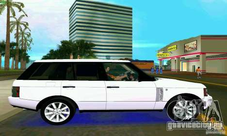 Land Rover Range Rover Supercharged 2008 для GTA Vice City вид сзади слева