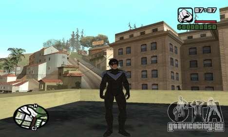 Nightwing skin для GTA San Andreas шестой скриншот