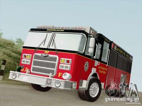 Pierce SFFD Rescue для GTA San Andreas вид слева
