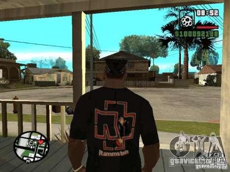 Футболка Rammstein v1 для GTA San Andreas второй скриншот