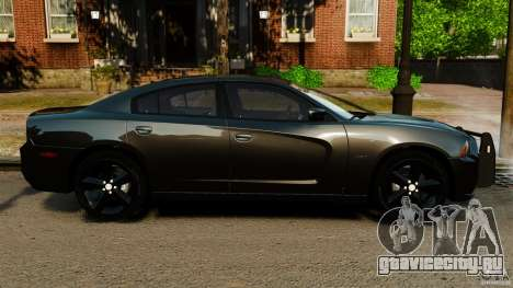 Dodge Charger RT Max FBI 2011 [ELS] для GTA 4 вид слева