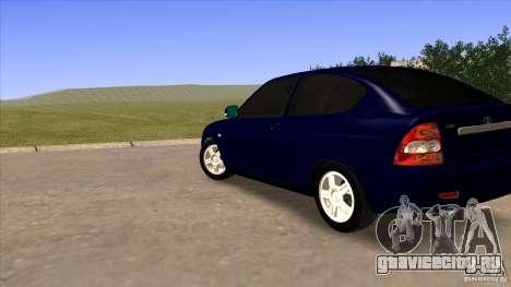 ВАЗ 2172 Приора для GTA San Andreas вид сзади слева