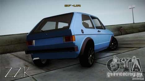 Volkswagen Golf MK1 для GTA San Andreas вид справа