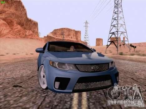 Kia Cerato Coupe 2011 для GTA San Andreas вид сзади слева