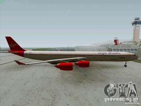 Airbus A-340-600 Virgin для GTA San Andreas вид слева
