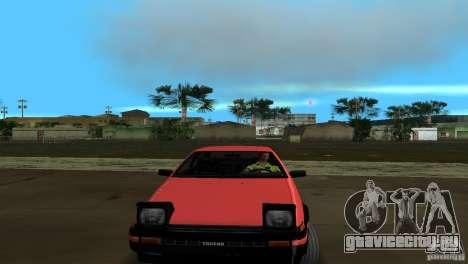 Toyota Trueno Sprinter для GTA Vice City вид сзади слева
