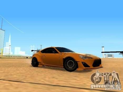 Toyota FT86 Rocket Bunny V2 для GTA San Andreas вид изнутри