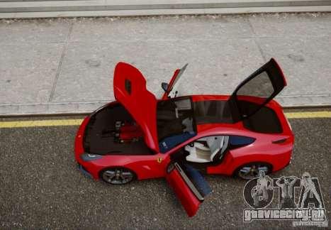 Ferrari F12 Berlinetta 2013 для GTA 4 вид сзади слева