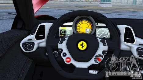 Ferrari 458 Italia 2010 Autovista для GTA 4 вид слева