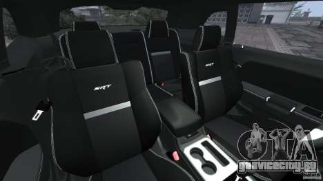 Dodge Challenger SRT8 392 2012 ACR [EPM] для GTA 4 вид изнутри