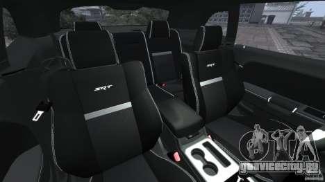 Dodge Challenger SRT8 392 2012 [EPM] для GTA 4 вид изнутри