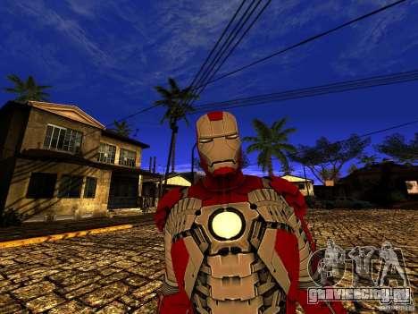 Iron Man 3 Mark V для GTA San Andreas четвёртый скриншот