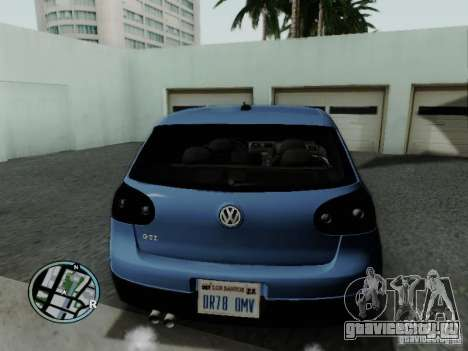 Volkswagen Golf V R32 Black edition для GTA San Andreas вид сзади слева