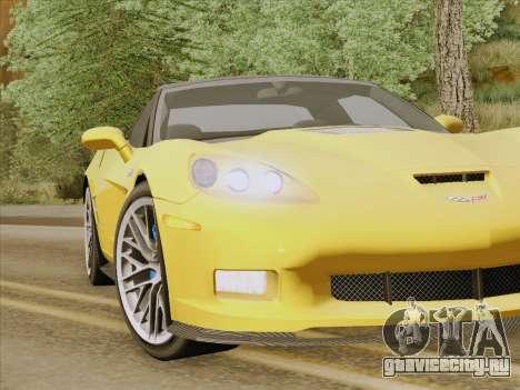 Chevrolet Corvette ZR1 для GTA San Andreas салон