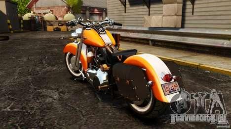 Harley Davidson Fat Boy Lo Vintage для GTA 4 вид сзади слева