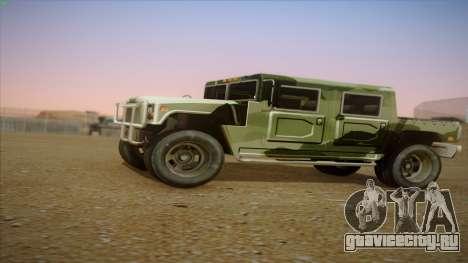 HD Patriot для GTA San Andreas вид слева