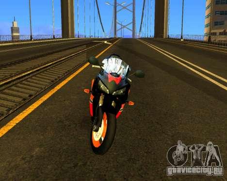 HONDA CBR 1000RR Repsol для GTA San Andreas вид слева
