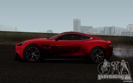 Aston Martin Vanquish 2012 для GTA San Andreas вид справа