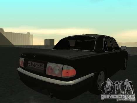 ГАЗ Волга 31105 для GTA San Andreas вид сзади слева