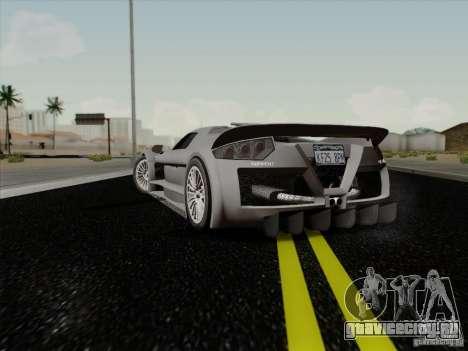 Gumpert Apollo 2005 для GTA San Andreas вид сзади слева