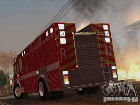 Pierce Contender LAFD Rescue 42 для GTA San Andreas вид сверху