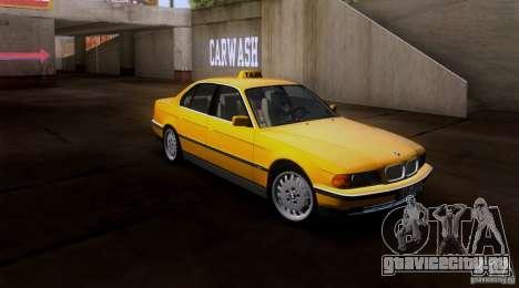 BMW 730i E38 1996 Taxi для GTA San Andreas