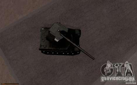 Bat. Chat. 155 SPG для GTA San Andreas вид изнутри