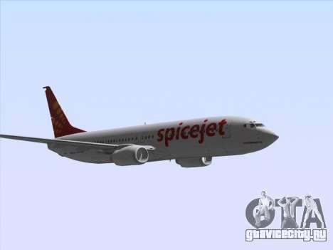 Boeing 737-8F2 Spicejet для GTA San Andreas вид изнутри