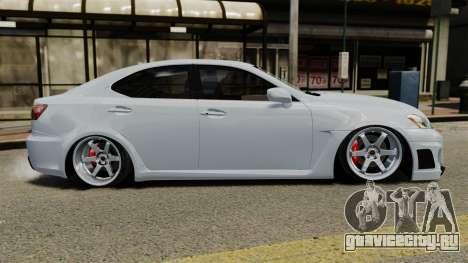 Lexus IS F 2009 для GTA 4 вид слева