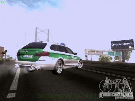 BMW M5 Touring Polizei для GTA San Andreas вид сверху