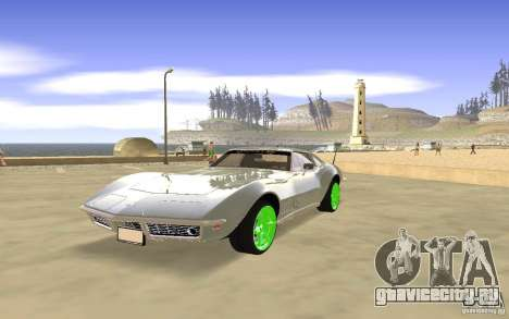 Chevrolet Corvette Stingray Monster Energy для GTA San Andreas вид снизу