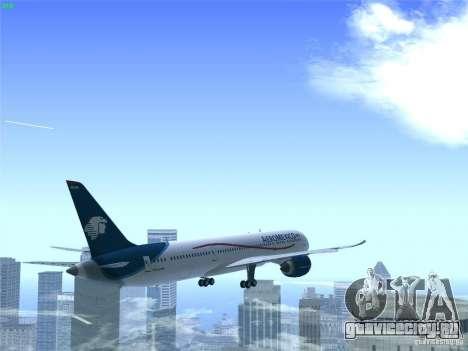 Boeing 787-8 Dreamliner AeroMexico для GTA San Andreas вид сверху