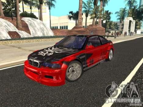 BMW M3 GTR из NFS Most Wanted для GTA San Andreas вид сверху