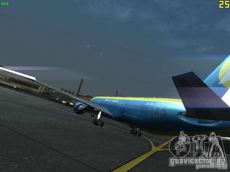 Boeing 767-300 AeroSvit Ukrainian Airlines для GTA San Andreas вид сзади слева