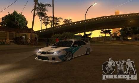 Subaru Impreza WRX STi 2006 для GTA San Andreas