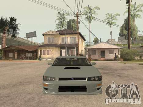 Sultan Impreza v1.0 для GTA San Andreas вид изнутри