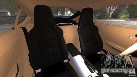 Porsche Cayman R 2012 для GTA 4 вид изнутри