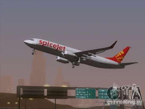 Boeing 737-8F2 Spicejet для GTA San Andreas вид сзади