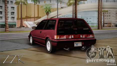Honda Civic Si Coupe для GTA San Andreas вид справа