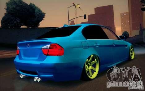 BMW M3 E90 для GTA San Andreas вид изнутри