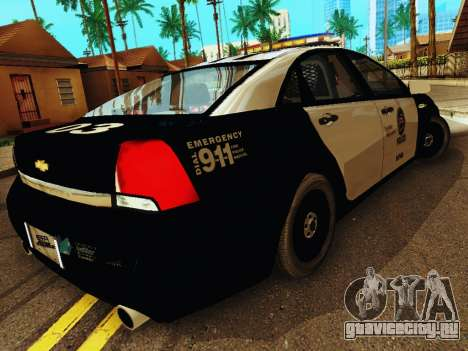 Chevrolet Caprice 2011 Police для GTA San Andreas вид справа