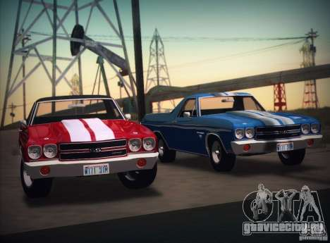 Chevrolet EL Camino SS 70 для GTA San Andreas вид сзади слева