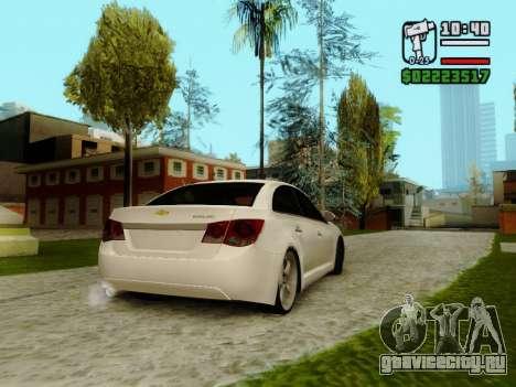 Chevrolet Cruze для GTA San Andreas вид справа