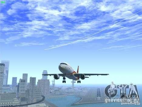 Airbus A320-214 Hong Kong Airlines для GTA San Andreas салон