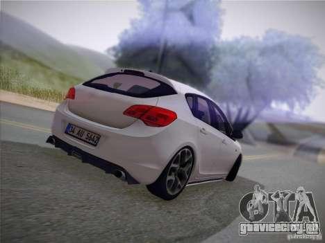 Opel Astra Senner Lower Project для GTA San Andreas вид изнутри