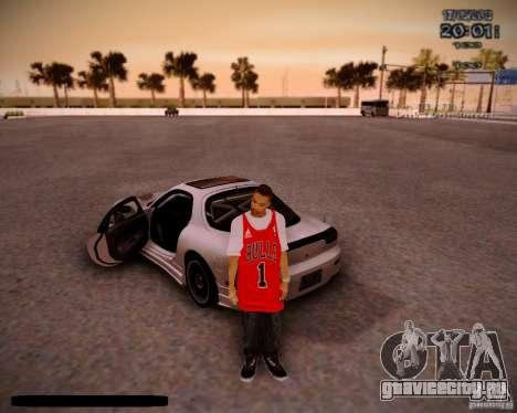 Skin Чикаго Буллс для GTA San Andreas второй скриншот