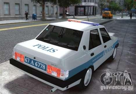 Tofas Sahin Turkish Police ELS для GTA 4 вид сзади слева