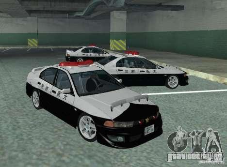 Mitsubishi Galant Police для GTA San Andreas вид слева